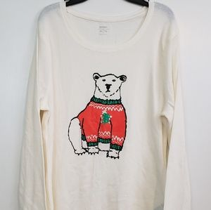 Old Navy Thermal waffle graphic Bear